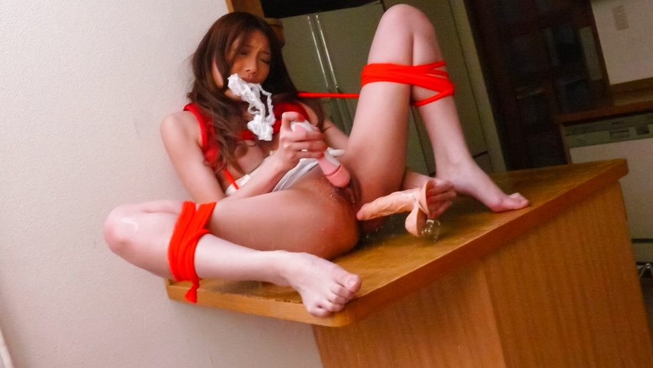 Asian sex kitten Aoi Yuuki enjoys some solo masturbation and a dildo ride