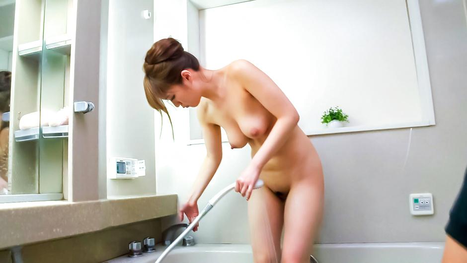 Nasty Japanese blowjob in the shower withEri Hosaka