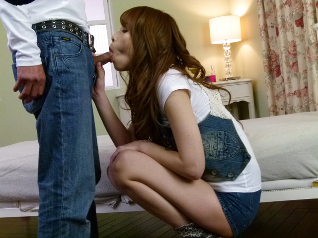 Rika Aiba - An asian blow job from Rika Aiba earns her a hard fucking - Picture 2