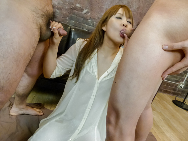 Rinka Aiuchi - Hot Japanese blowjobs by naughty model Rinka Aiuchi  - Picture 5