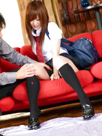 Miku Airi - 穿制服的Miku Airi 深深地钉 - 图片 1
