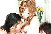 Aika - Aika sucks tool while is screwed in 3some - Picture 6
