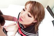 Aya Sakuraba - Aya Sakuraba hot pussy fuck in school uniform - Picture 10