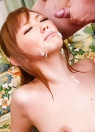 Megu Kamijyou Asian gets cum on face and is fucked with dildo