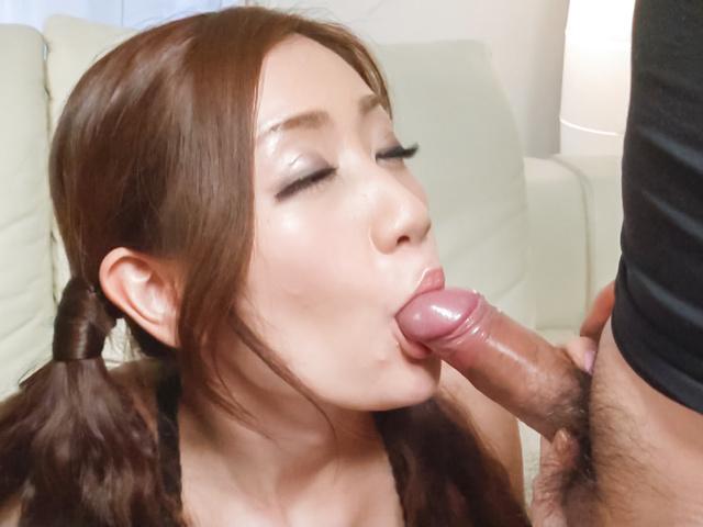 Kaori Maeda - Asian blow job with sweet Japanese Kaori Maeda - Picture 4
