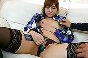 Rinka Aiuchi - Rinka Aiuchi gives an asian blow job and is creampied - Picture 3