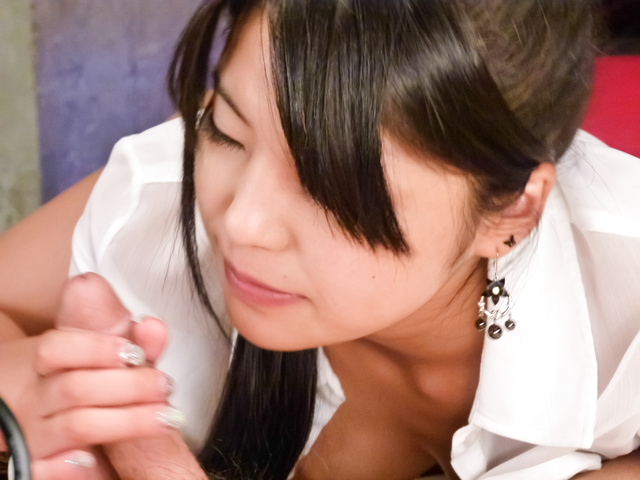 Eririka Katagiri - Eririka Katagiri gives an amazing asian blowjob in POV - Picture 12