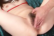 Asuka Mimi - Asuka Mimi in bikini stripping off and finger fucked to orgasm - Picture 10