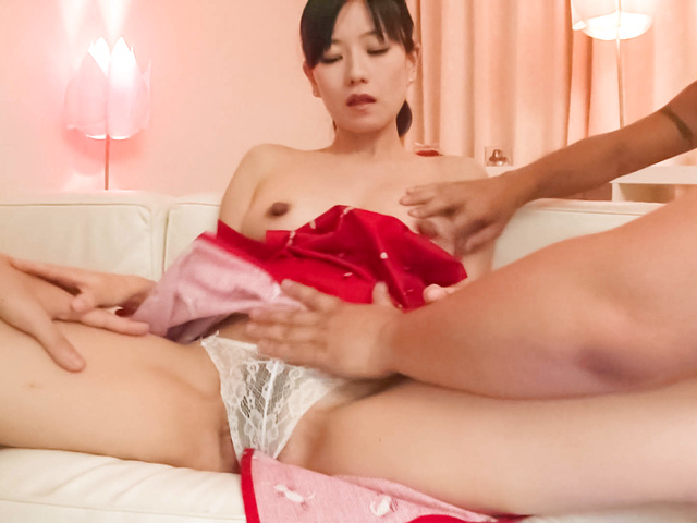 Manami Komukai − Manami Komukai has face in sperm rain − Picture 12