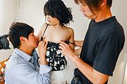 Rei Asamiya - Asian creampie in threesome along Rei Asamiya - Picture 1