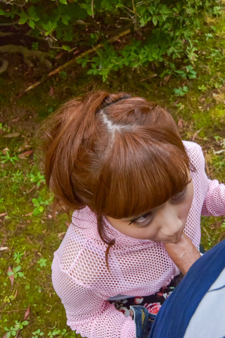 Anna Anjo - SexyAnna Anjo gives Japanese blowjob in outdoor - Picture 10