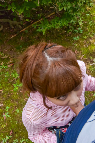 Anna Anjo - SexyAnna Anjo gives Japanese blowjob in outdoor - Picture 11