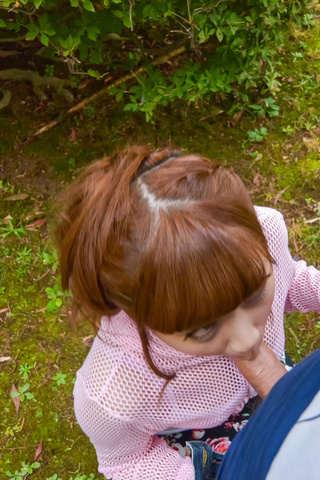 Anna Anjo - SexyAnna Anjo gives Japanese blowjob in outdoor - Picture 9
