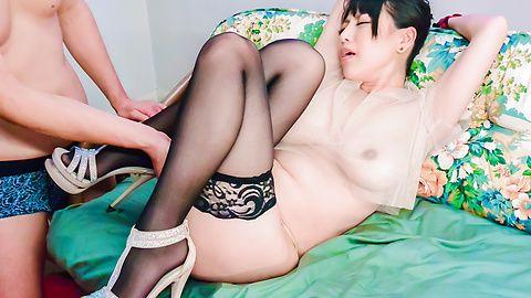 Asian bondage porn show along a busty mom