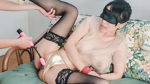 Asian bondage porn show along a busty mom