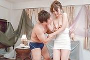 Yura Kurokawa - Yura Kurokawa gets slammed hard after an asian blowjob - Picture 10