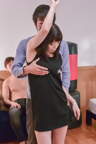 Nao Mizuki - Nao Mizuki smashed by two horny lads in threesome  - Picture 1