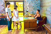 Wakaba Onoue - Wakaba Onouegives hot Asian blowjobs in threesome - Picture 1