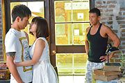 Wakaba Onoue - Wakaba Onouegives hot Asian blowjobs in threesome - Picture 2