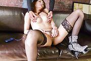 Riina Fujimoto - Riina Fujimoto gives a japan blowjob and fucks in stockings - Picture 4