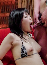 Hikaru Kirameki sucks tools and is fucked with vibrator in crack