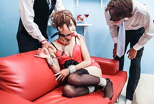 Mei Aso enjoys getting teased while bondaged