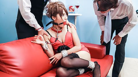 Mei Aso enjoys getting teased while bondaged