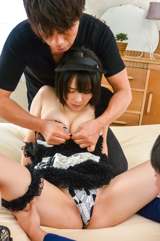Ruka Kanae - Asian maid tries two cocks in dirty hardcore  - Picture 3