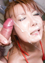 Yuna Hirose Asian has hairy vagina and oiled boobs under vibrator