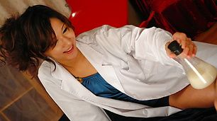 Horny nurse Asami Yoshikawa goes for a cock