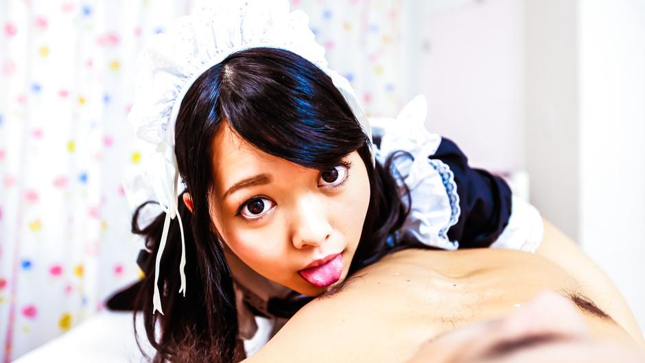 Phim Sex Sexy maidHikaru Morikawa enjoys Japanese cum