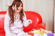 Rino Sakuragi - Rino Sakuragi tries Asian dildos down her pussy - Picture 1
