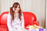 Rino Sakuragi - Rino Sakuragi tries Asian dildos down her pussy - Picture 2
