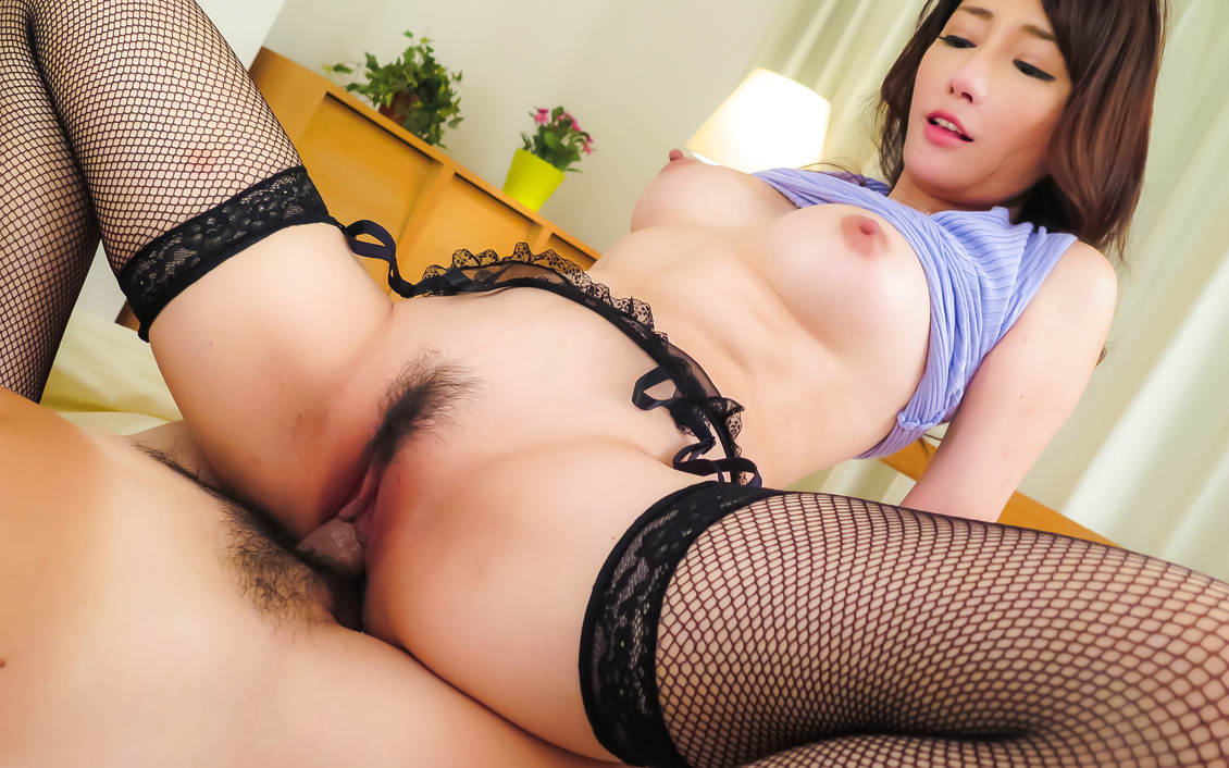 Asian creampie to end milf's crazy hardcore fuck