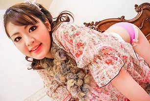 Sex-hungry Asian babe Tomoka Sakurai getting naked and flaunting her eager and pink snatch