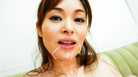 Hitomi Kanou licks and strokes two tools