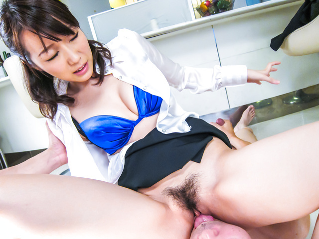 Hitomi Oki - Facial Asian cum shot after hardcore sex withHitomi Oki - Picture 11