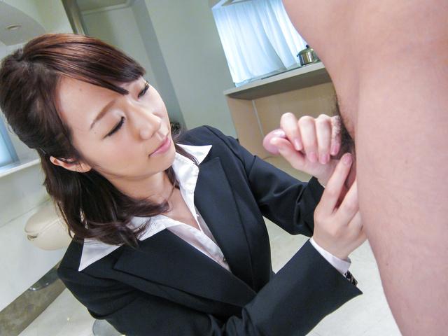 Hitomi Oki - Facial Asian cum shot after hardcore sex withHitomi Oki - Picture 7