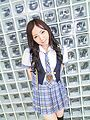 Ayane Okura - Hot asian schoolgirl blow job porn session - Picture 1