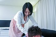 Yuuna Hoshisaki - Busty Yuuna Hoshisaki gives an asian blow job and drips a creampie - Picture 1