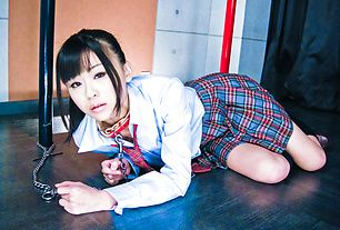Chika Ishihara on a leash headfucked with deep throat