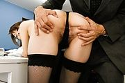 Maki Hojo - Amateur Maki Hojo first time porn at the office  - Picture 7