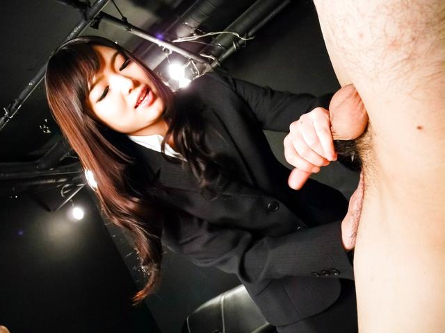 Megumi Shino - Megumi Shino licks dicks and enjoys threesome sex  - Picture 8