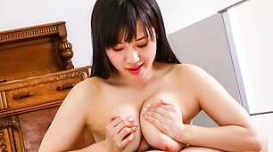 Azusa Nagasawa's mouth blasted with her lover's man-naise
