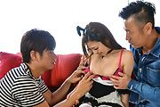 Maki Horiguchi - Asian threesome along cock sucking Maki Horiguchi - Picture 4
