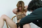 Rika Aiba - Two guys get a japan blow job from MILF Rika Aiba - Picture 10