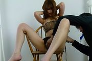 Rika Aiba - Two guys get a japan blow job from MILF Rika Aiba - Picture 9