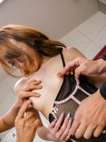 Sex Mai Shirosaki gets japanese bukkake after a hard fucking