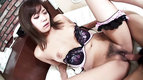 Yuu Sakura fondling and toying her wet-dripping pussy