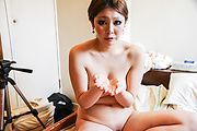 Anna Oguri - Busty Anna eats cum after a japan blowjob - Picture 4